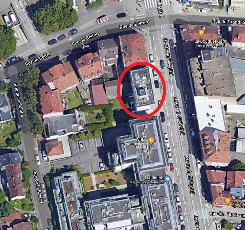plan de masse 42 route de l hôpital à Strasbourg