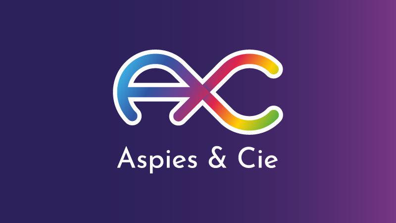 Logo d'Aspies & Cie sur fond violet